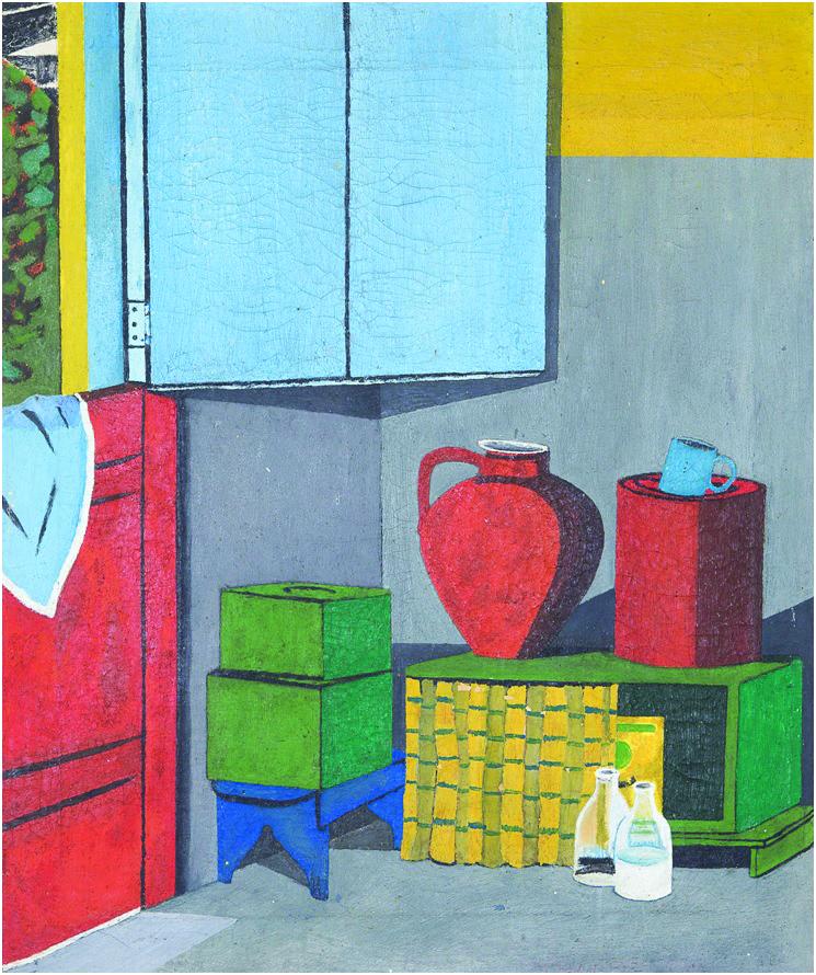 """""""Canto da Cozinha"""", pintura do artista que estará na mostra - Divulgação/ND"""