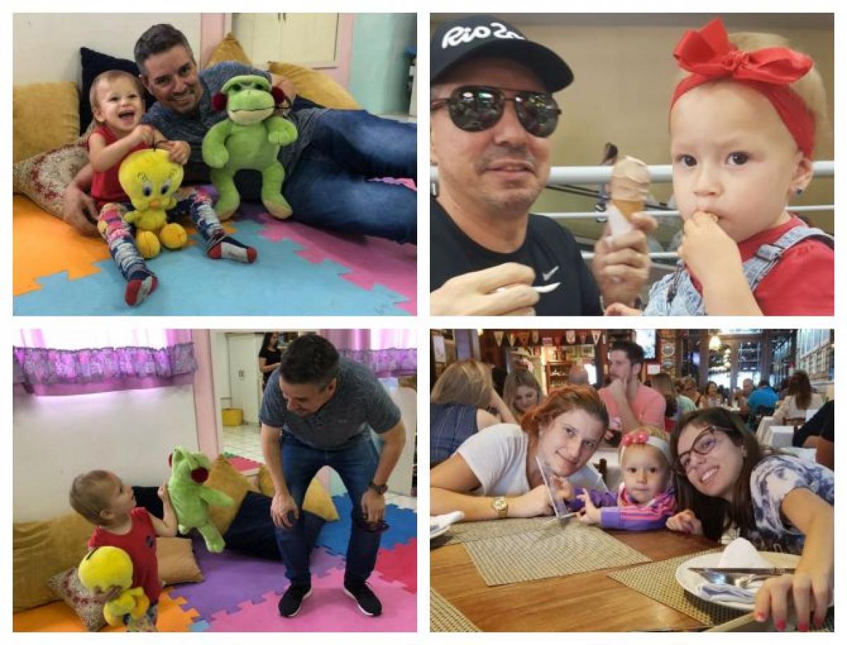 Marcus hoje também é padrinho da filha de Marieli, Maria Sophia, de dois anos - Arquivo Pessoal