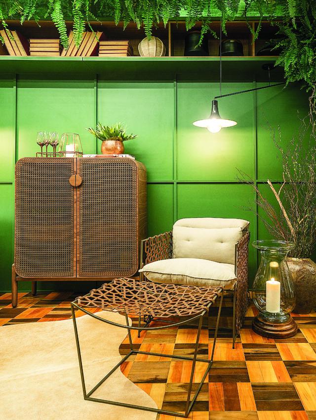 Sala de Leitura, de Marisa Lebarbenchon, tem peças de designers premiados - Lio Simas/Divulgação Casacor/ND