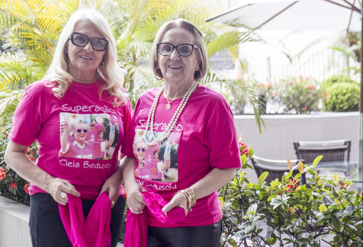 Mara e Cleusa Beduschi levam adiante a luta da irmã que faleceu com câncer - Marco Santiago/ND