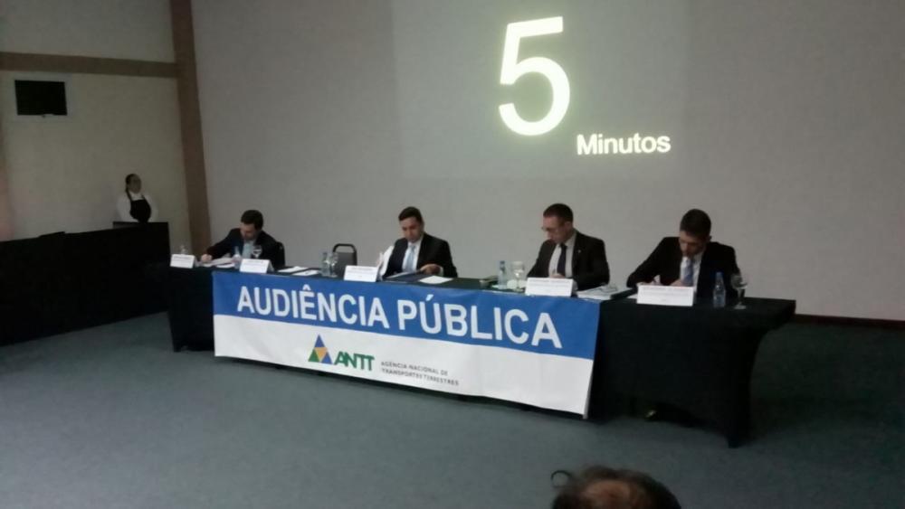 Ao todo, 57 pessoas, gestores públicos ou entidades opinaram na audiência - Divulgação/ANTT/ND
