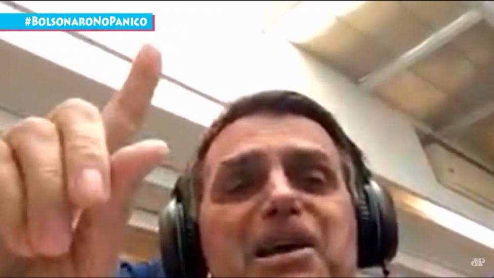Jair Bolsonaro em entrevista à Jovem Pan - Reprodução/ND