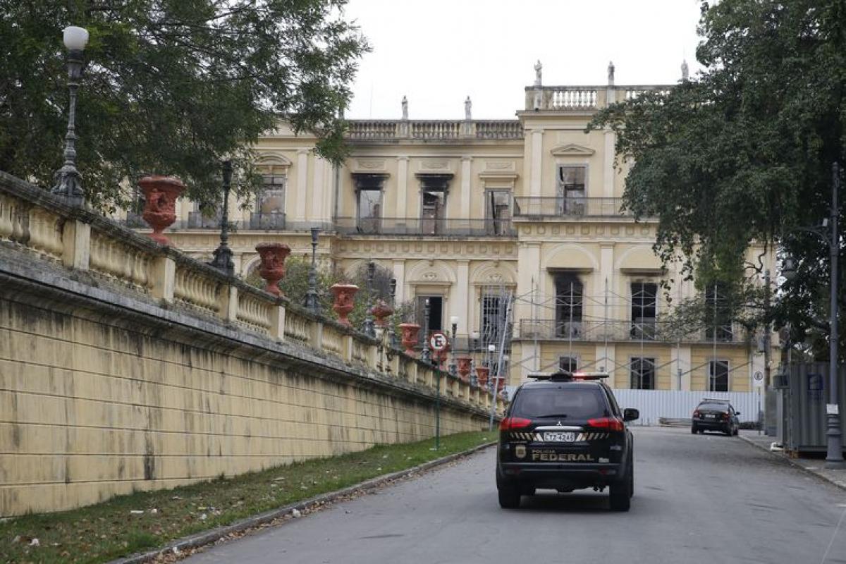 Incêndio no Museu Nacional, na Quinta da Boa Vista, completa um mês - Tânia Rêgo/Agência Brasil/ Divulgação/ ND