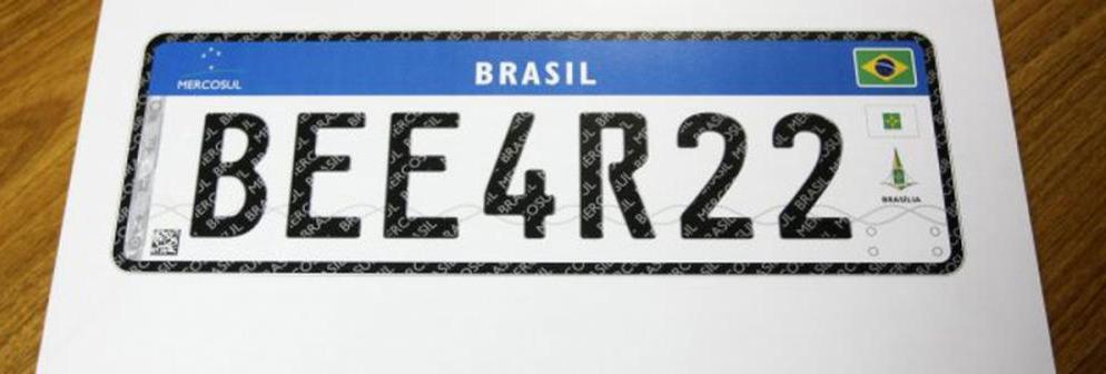 Nova placa terá sete caracteres alfanuméricos - EBC/Divulgação/ND