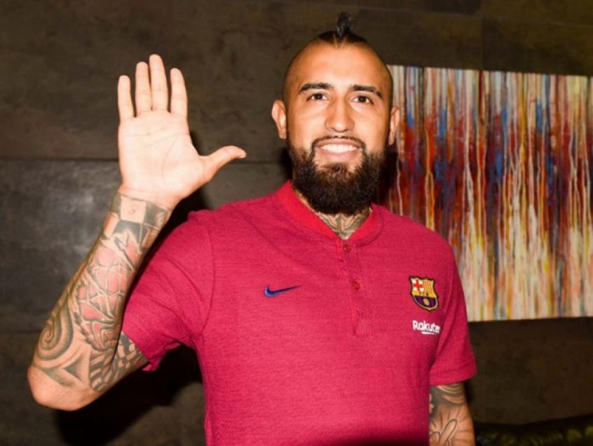 Vidal está satisfeito no Barça (Foto: Divulgação)