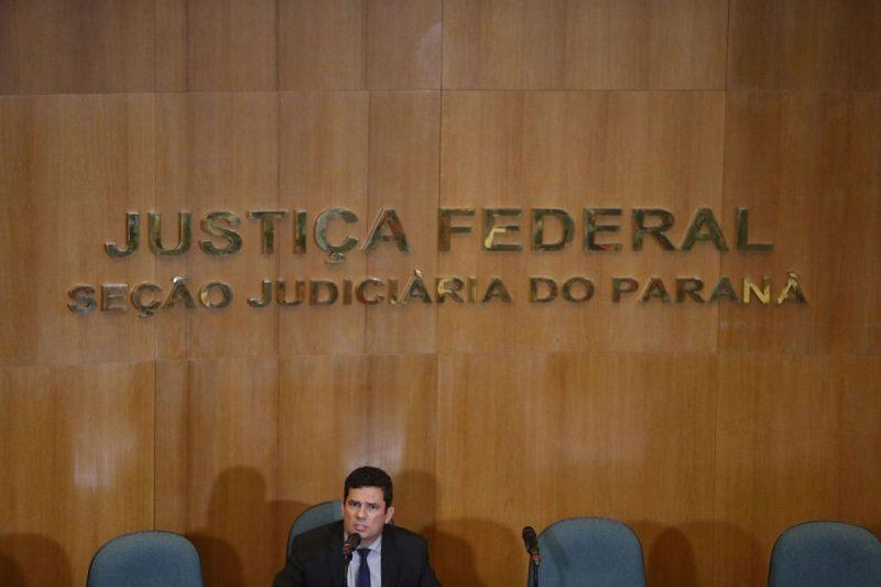 Coletiva de imprensa em Curitiba (PR) – Foto: Hedeson Alves/EFE/Direitos Reservados/Agência Brasil