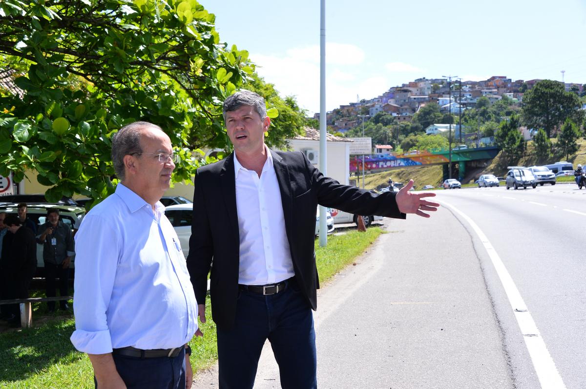 Jorginho Mello (PR) e o ministro do Transporte, Valter Casimiro -  Alberto Ruy/MTPA