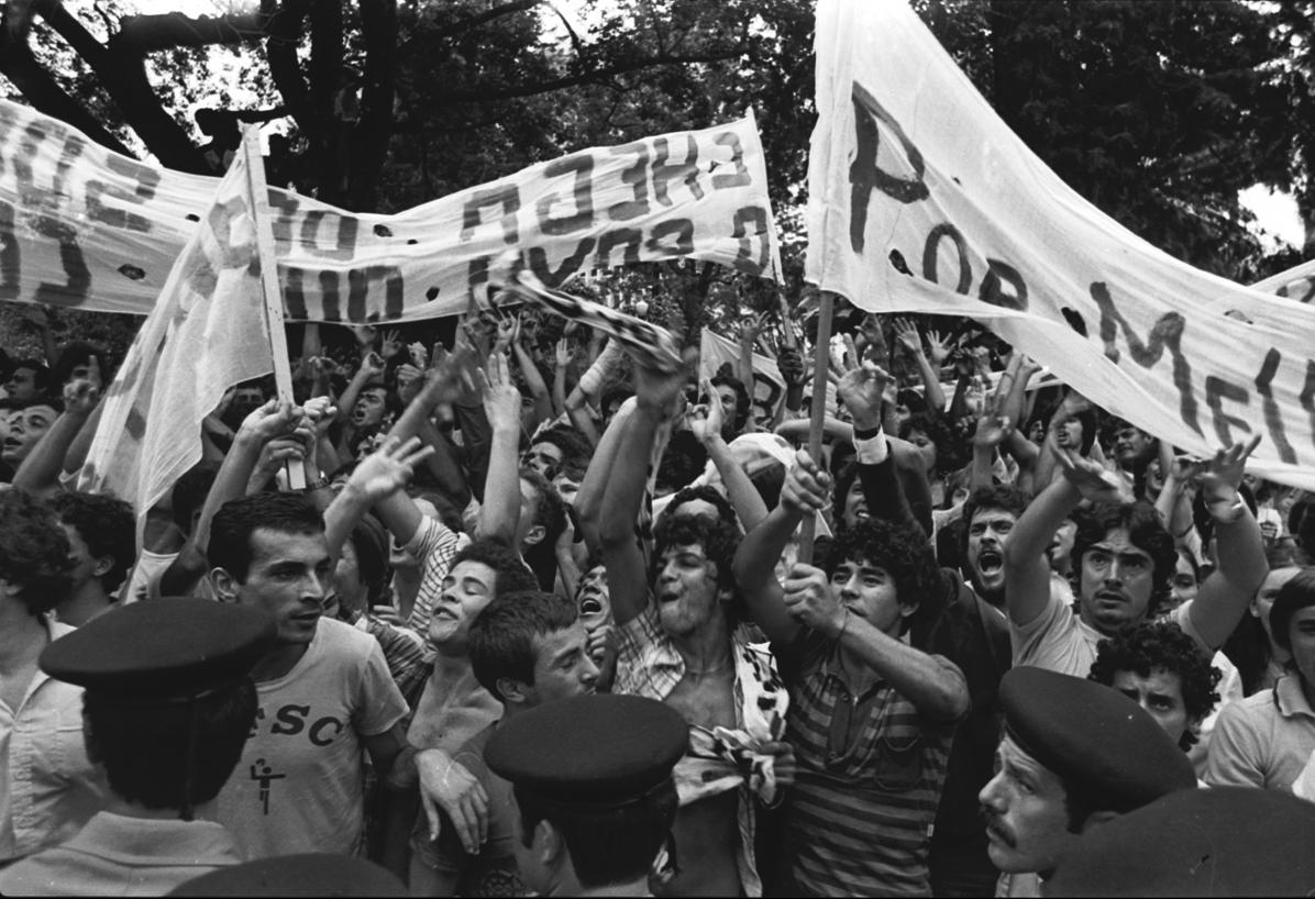 Aspecto do protesto que reuniu milhares de pessoas em ato contra a ditadura - James Tavares