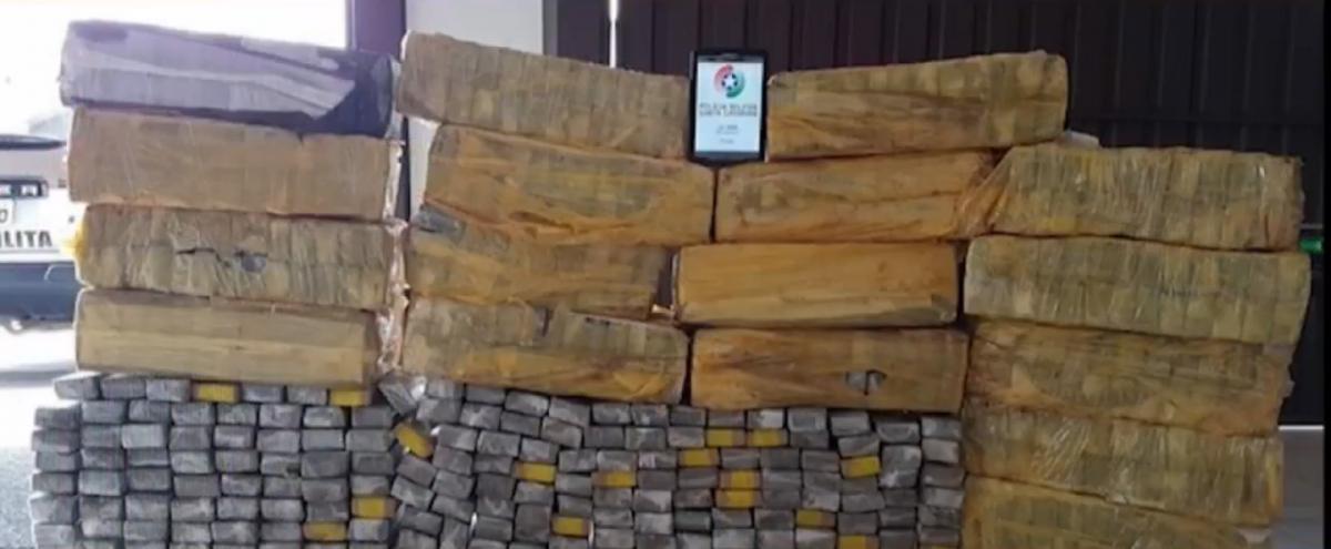 PM apreendeu quase meia tonelada de maconha em Rio Negrinho - PM/Divulgação/ND