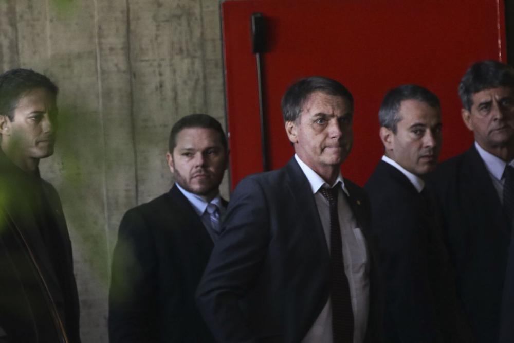 Presidente eleito Jair Bolsonaro chega ao CCBB para reuniões - Antonio Cruz/Agência Brasil
