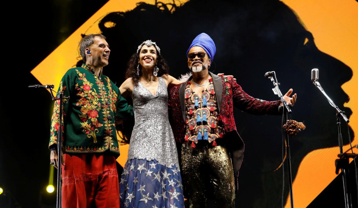Marisa Monte, Arnaldo Antunes e Carlinhos Brown se reúnem para show que repassa canções do trio - Leo Aversa/Divulgação/ND