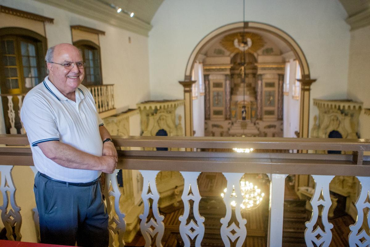 Padre Frei Gunther Max Walzer considera a restauração um presente para Florianópolis - Foto Flávio Tin/ND