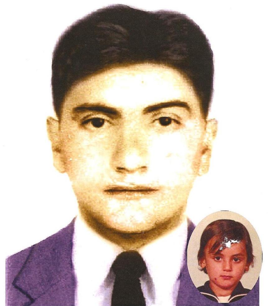 Progressão de imagem do rosto de Mikelângelo, que hoje tem 42 anos - DPPD-SC/Divulgação