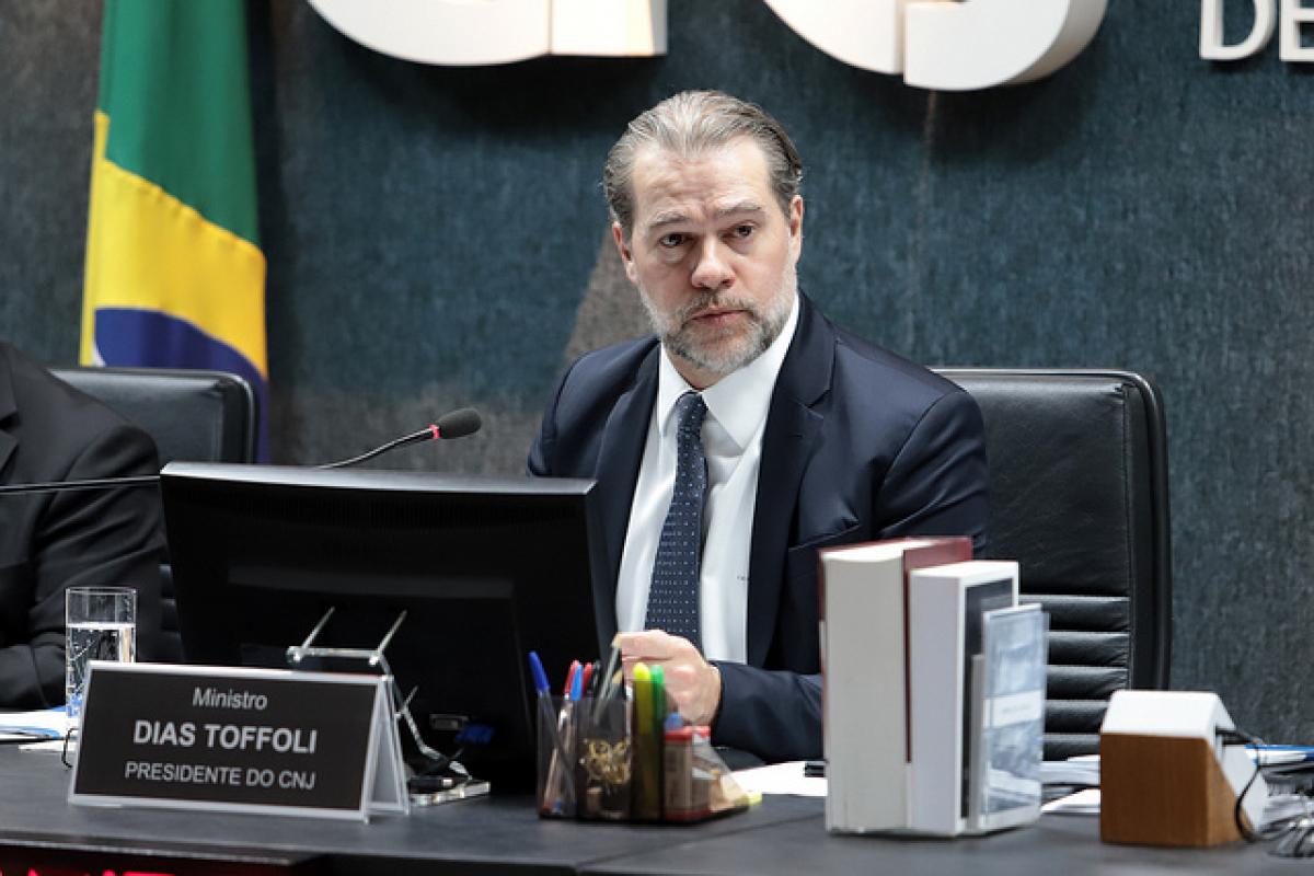 Ministro Dias Toffoli durante a 51ª Sessão Extraordinária - Luiz Silveira/Agência CNJ