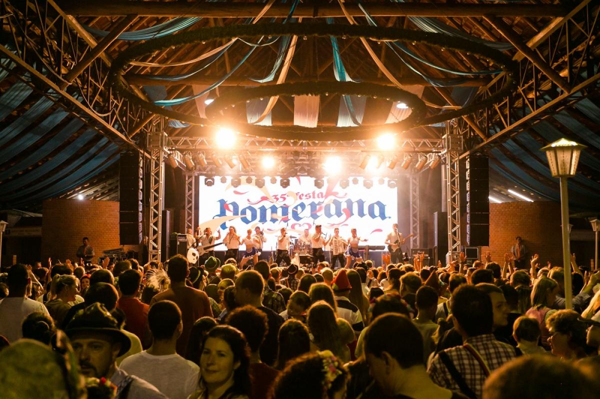 Festa Pomerana teve edição de 2021 cancelada por conta da pandemia da Covid-19 – Foto: Daniel Zimmerman/Divulgação/ND