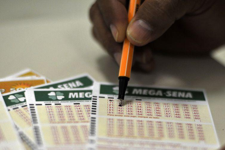 Mega-Sena sorteou prêmio de R$ 3 milhões nesta quarta-feira – Foto: Marcello Casal Jr./Agência Brasil/Divulgação/ND