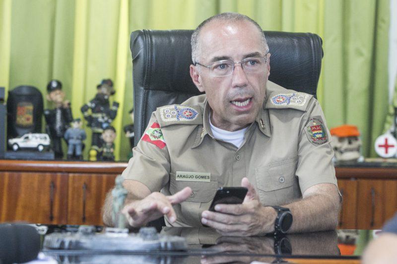 Araújo Gomes saiu do comando da PMSC e foi para a reserva em maio do ano passado – Foto: Marco Santiago/Arquivo/ND