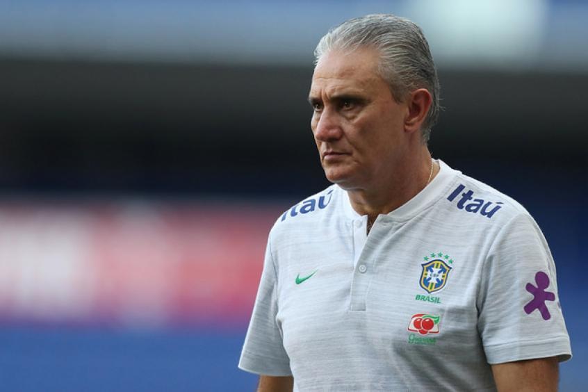 'A gente rivaliza com Argentina ou Alemanha', diz Tite (Lucas Figueiredo/CBF -