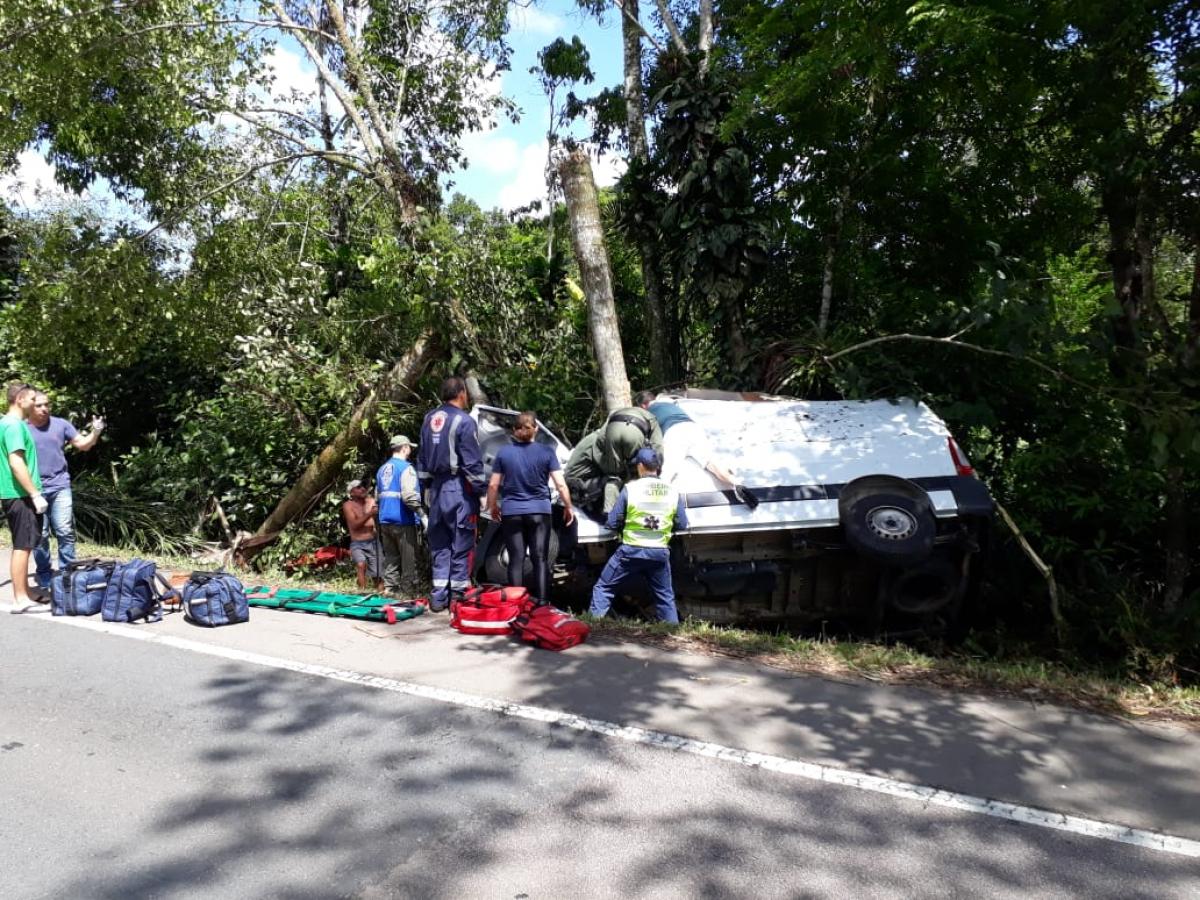 Acidente em Garuva, Norte do Estado, deixa um morto neste sábado (26) - PM/Divulgação/ND