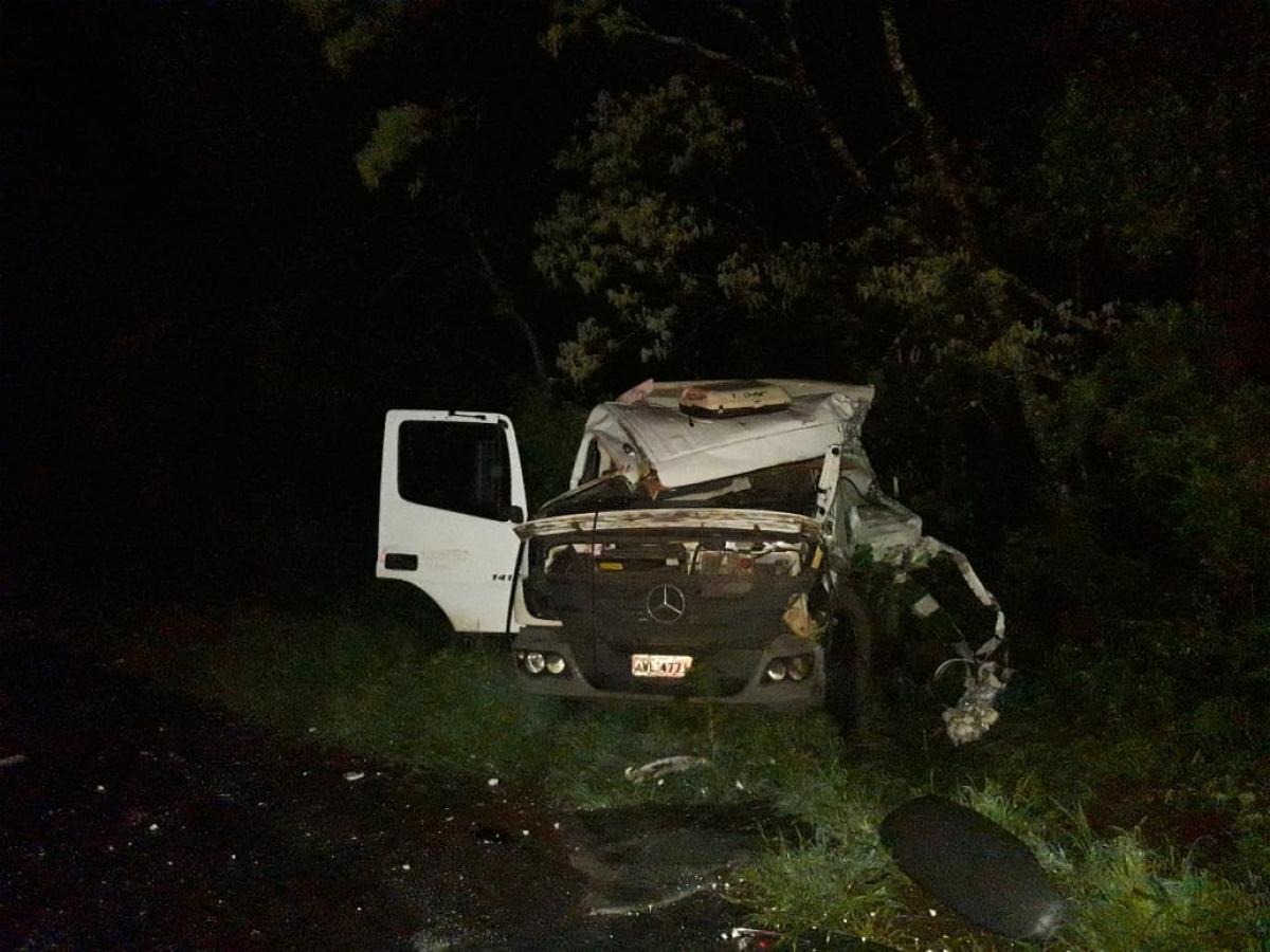 Acidente ocorreu na madrugada desta sexta-feira - PRE-SC/Divulgação