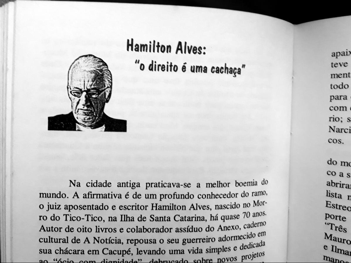 Fac-símile do perfil de Hamilton Alves no livro