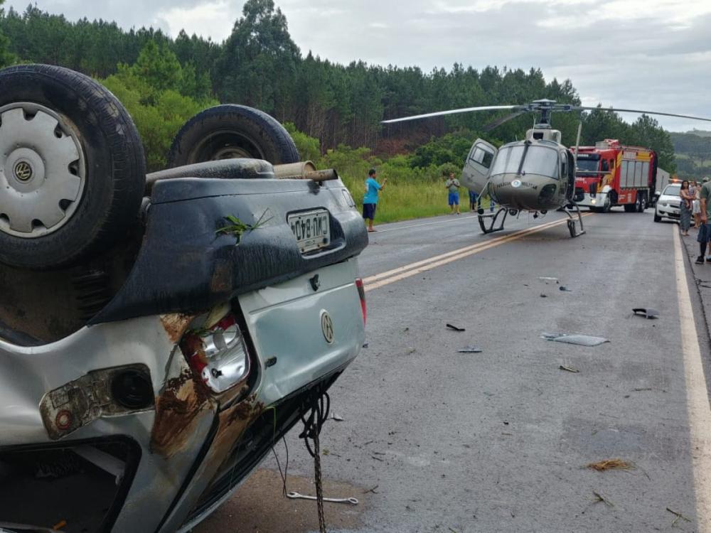 Helicóptero Águia 4 da PM em atendimento - Divulgação/ND