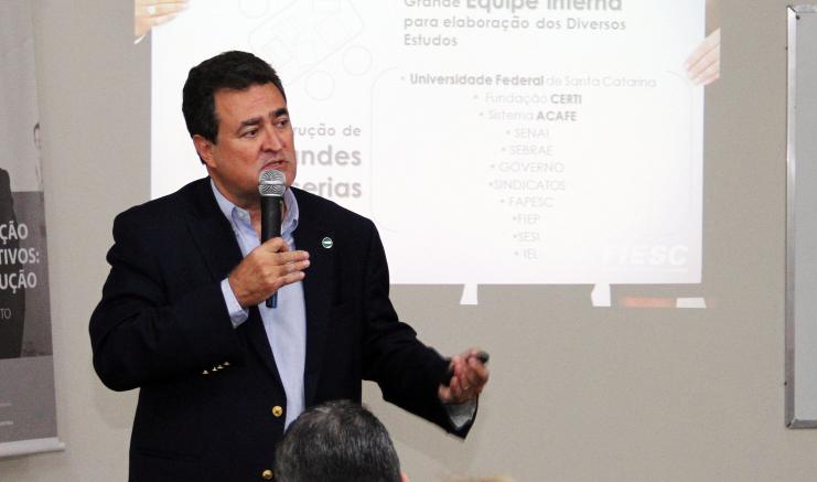 Carlos Henrique Fonseca atuou como diretor de desenvolvimento institucional e industrial da Fiesc - Arquivo/Filipe Scotti/Fiesc/Divulgação/ND