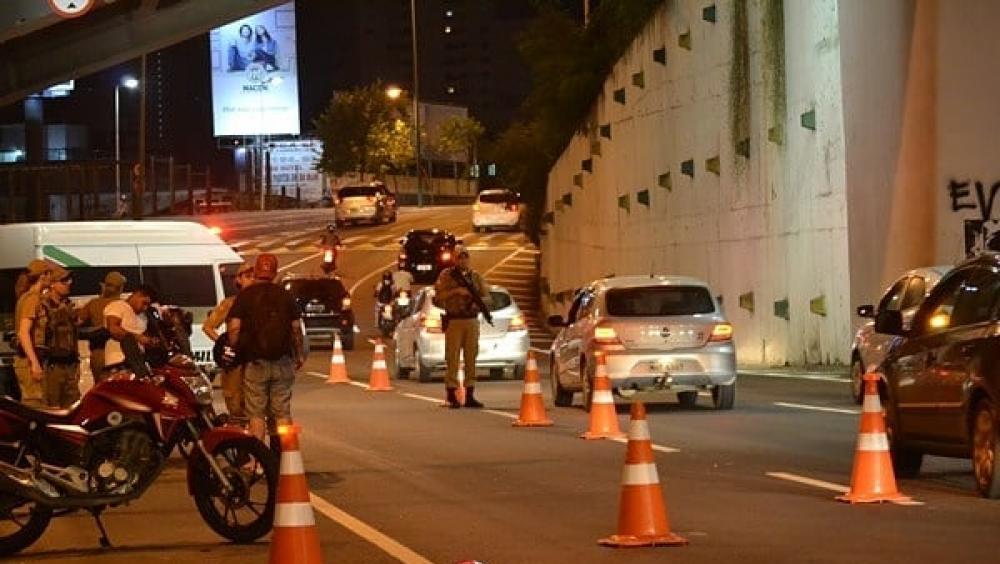 Barreira policial para detectar embriaguez ao volante - Divulgação/ND