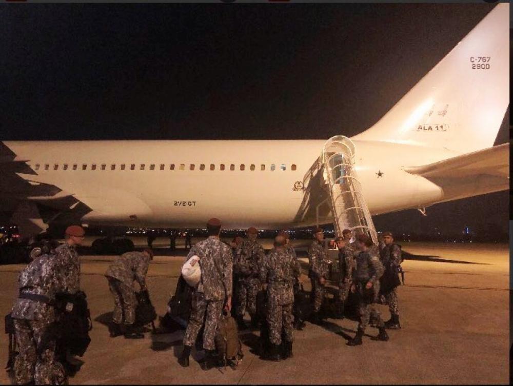 Militares da Força Nacional, Polícia Federal e agentes de segurança de outros Estados, como SC, ajudam a reforçar a segurança no Ceará - FAB/Divulgação/ND