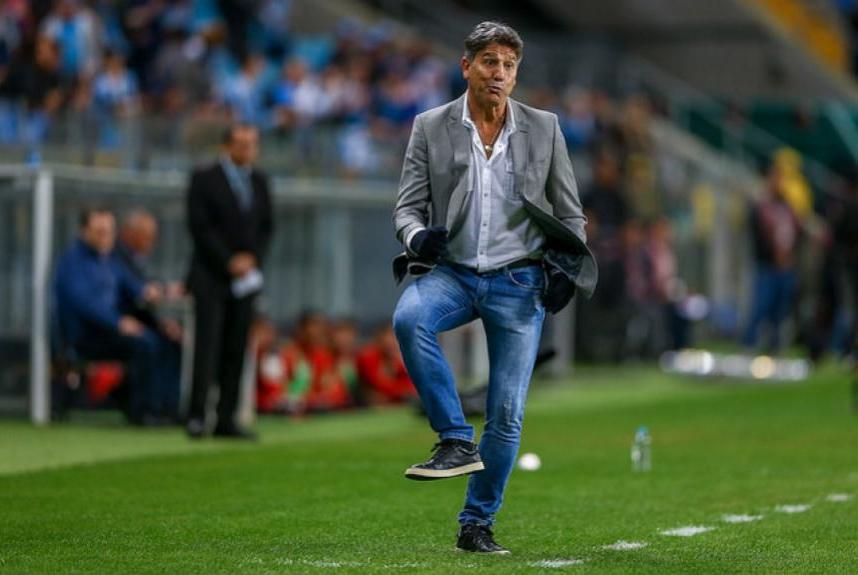 O técnico do Grêmio Renato Gaúcho completou dois anos no clube na última quarta-feira, dia 19 de setembro. No comando da equipe, o treinador já conquistou um título de Copa do Brasil, o Tri da Libertadores da América, a Recopa Sul Americana e Campeonato  -  LUCAS UEBEL/GREMIO FBPA