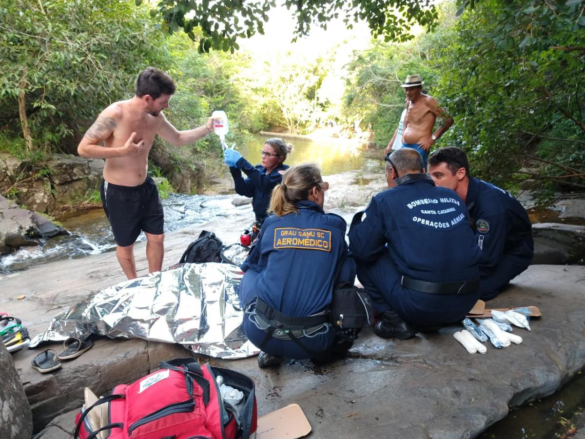 Cachoeira da Costa da Lagoa é conhecida por sua periculosidade - Arcanjo 01/Divulgação/ND