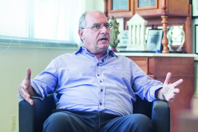 Bruno Breithaupt, presidente da Fecomércio/SC, foi entrevistado para o Visão Catarinense – Foto: Marco Santiago/Arquivo/ND