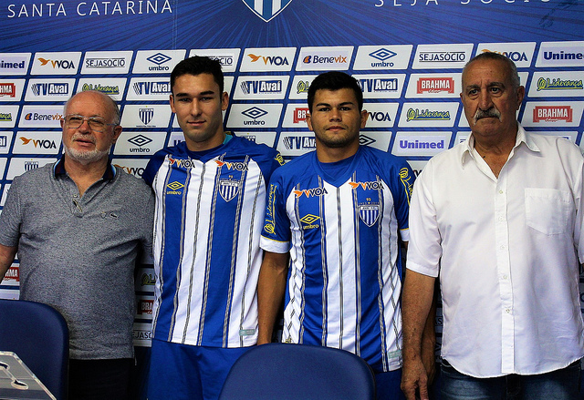 Francisco Battistotti, Ricardo Thalheimer, Feliciano Brizuela e Joceli dos Santos - André Palma Ribeiro/Avaí FC