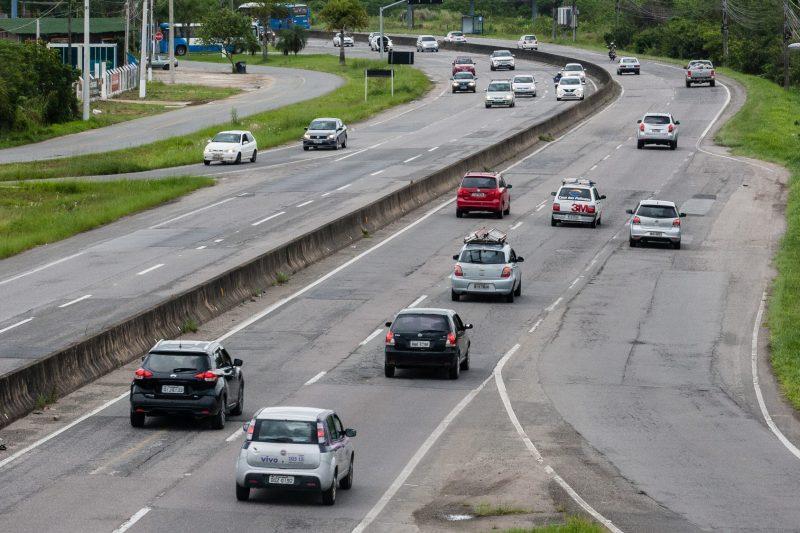 SC-401, em Florianópolis, é uma das vias que requer cuidado redobrado pelos motoristas – Foto: Flávio Tin/ND