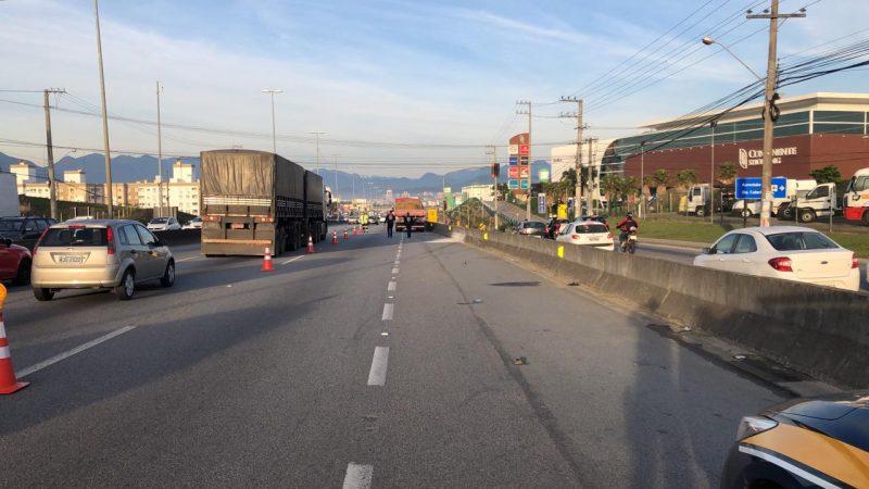 Atropelamento ocorreu no km 209,7 da BR-101, em São José – PRF/Divulgação/ND