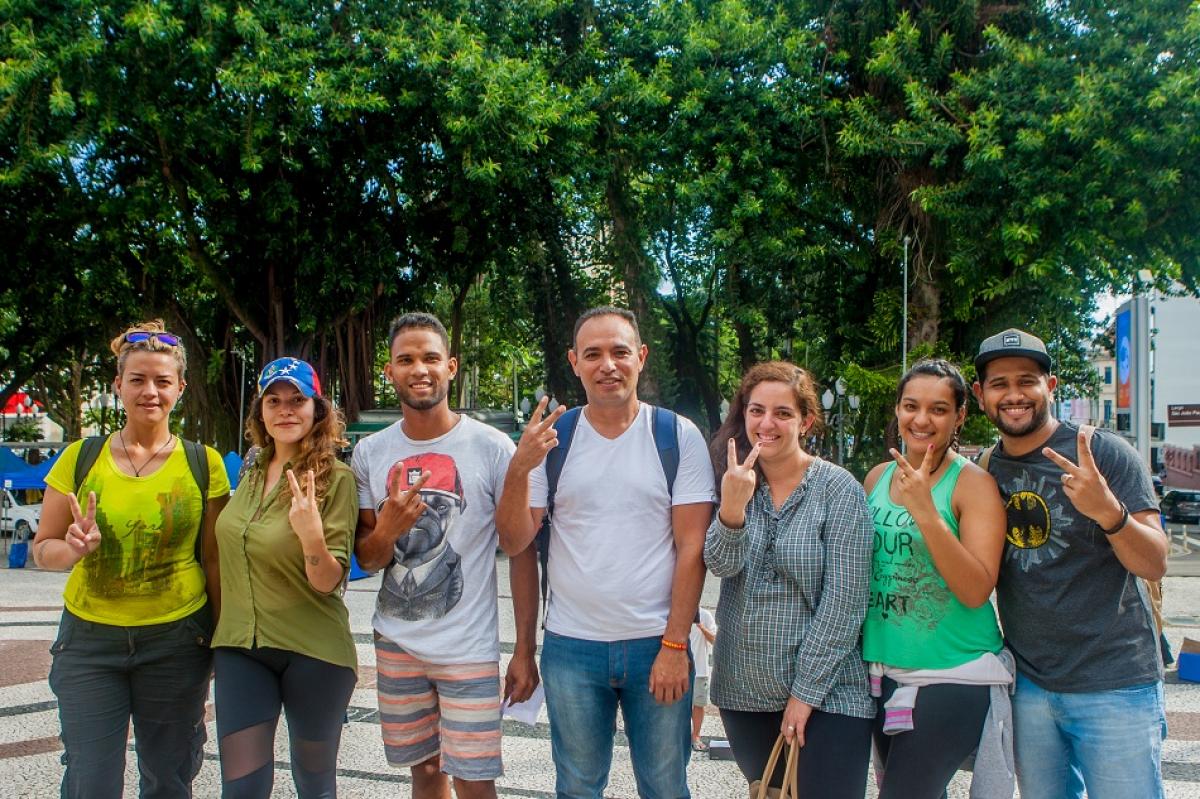 Imigrantes venezuelanos em Florianópolis - Flávio Tin/ND