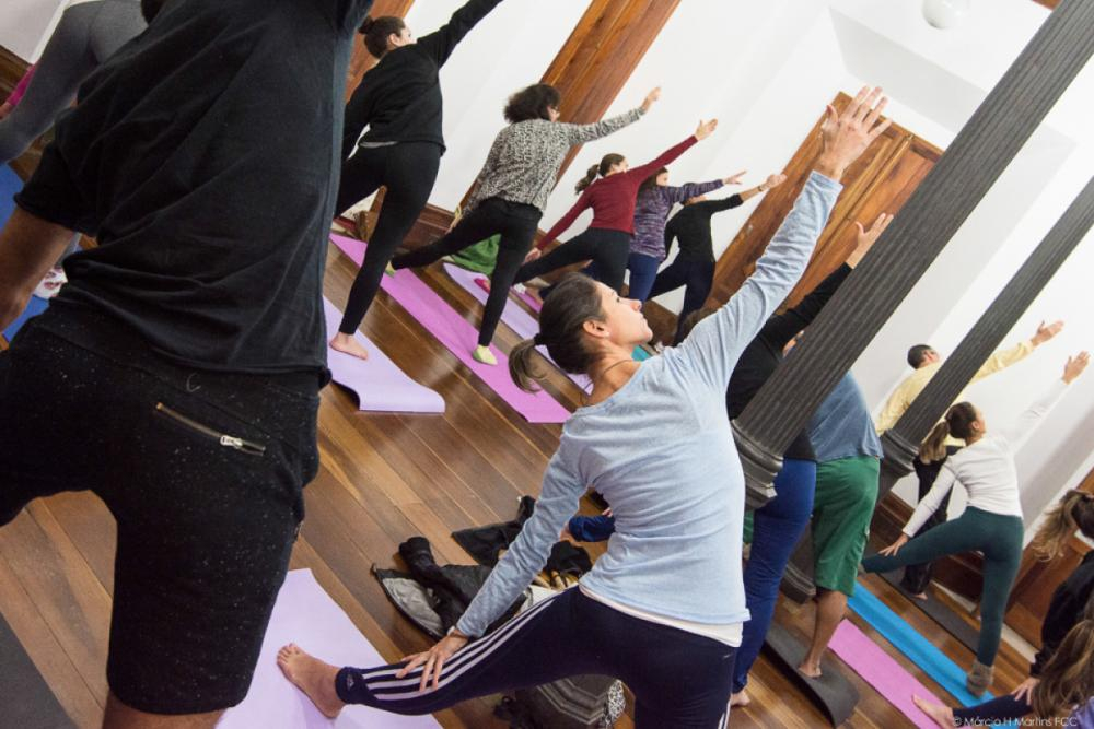 Yoga no Palácio - Márcio Henrique Martins / Assessoria de Comunicação FCC