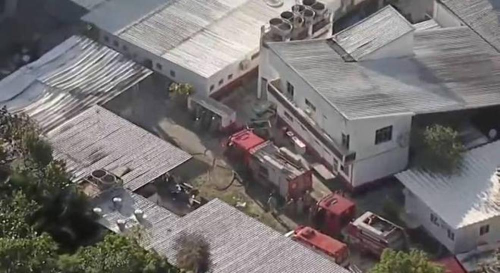 Incêndio deixou dez mortos no centro de treinamento do Flamengo, no Rio - Reprodução/Record TV