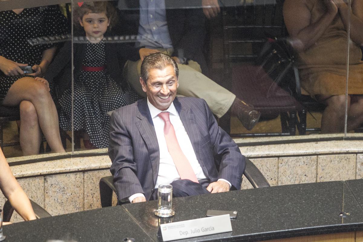 Júlio Garcia foi eleito para assumir a presidência da Alesc - Marco Santiago/ND