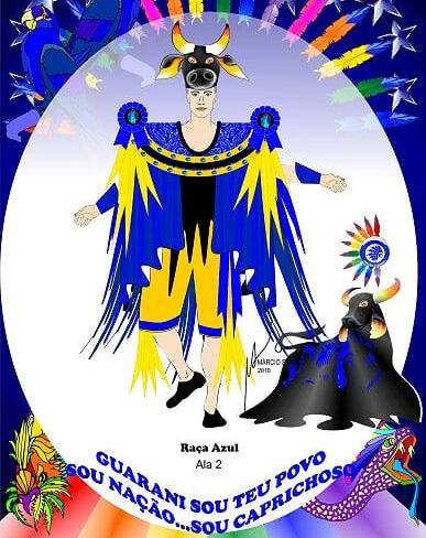 Ala 2 - Raça Azul, da Nação Guarani - Facebook/Divulgação