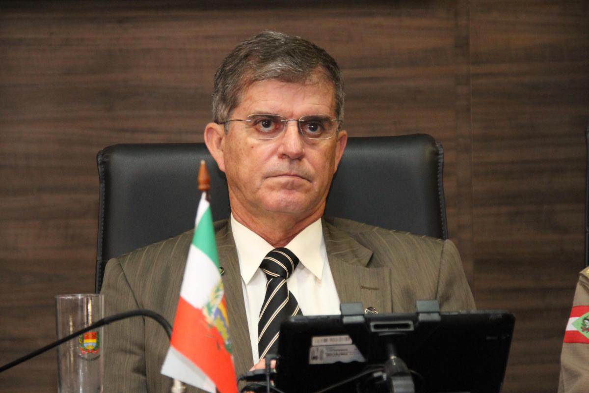 Secretário nacional de Segurança Pública, general Guilherme Theóphilo, em visita a Santa Catarina - SENASP/Divulgação/ND