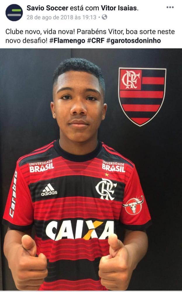 Vitinho, vítima do incêndio no CT do Flamengo - mídia social/reprodução