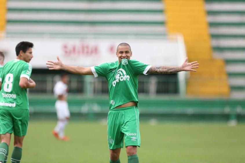 Wellington Paulista marca em jogo pelo Brasileirão de Aspirantes (Foto: Divulgação/Chapecoense) -