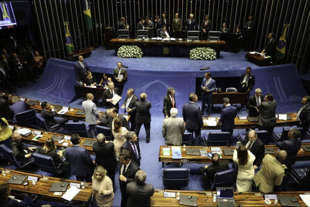 Senadores pediram adiamento da eleição para presidência da Casa - Fabio Rodrigues Pozzebom/Agência Brasil