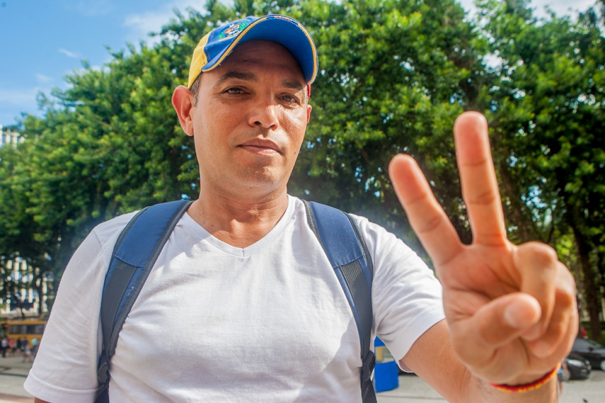 Johnan Castillo, 46, de Maracaibo, ex-segurança patrimonial na estatal de petróleo PDVSA - Flávio Tin/ND