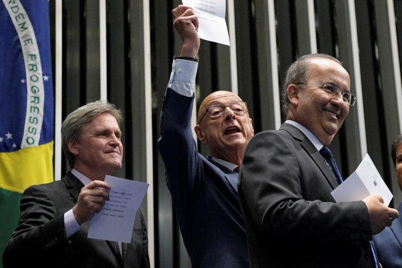 Dário, Amin e Jorginho, os três senadores de SC – Pedro França/Agência Senado/ND