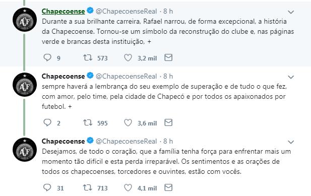 Chapecoense - Reprodução/ND