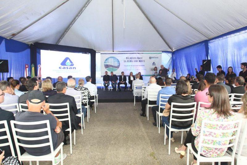 Cerimônia de entrega da obra de balneabilidade da Beira-Mar Norte – Marco Santiago/ND