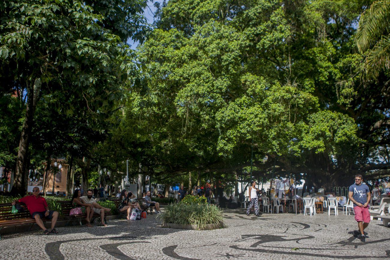 Em oitavo lugar a praça 15 de Novembro. - Flavio Tin/ND