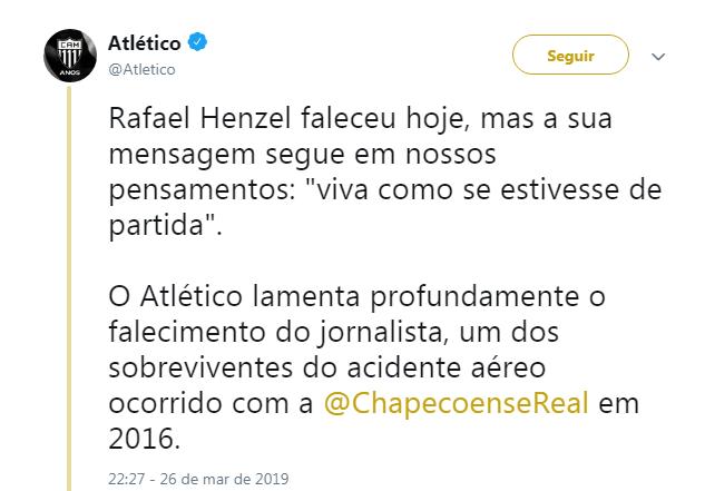 Atlético - Reprodução/ND